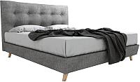 Двуспальная кровать Signal Sevilla 160x200 (серый) -