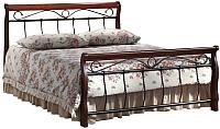 Полуторная кровать Signal Venecja 2OS 120x200 (античная черешня) -