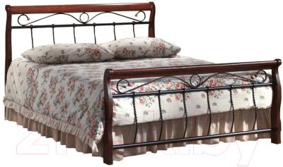 Полуторная кровать Signal Venecja 2OS 120x200 (античная черешня)