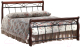 Полуторная кровать Signal Venecja 2OS 140x200 (античная черешня) -