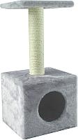 Домик-когтеточка UrbanCat D72-01-04 (светло-серый) -