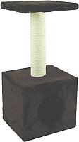 Домик-когтеточка UrbanCat D72-01-05 (темно-коричневый) -