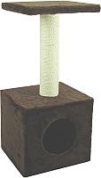 Домик-когтеточка UrbanCat D72-01-06 (коричневый) -