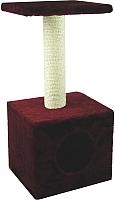 Домик-когтеточка UrbanCat D72-01-07 (бордовый) -