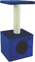 Домик-когтеточка UrbanCat D72-01-09 (синий) -