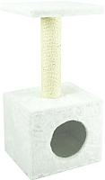 Домик-когтеточка UrbanCat D72-01-10 (белый) -