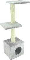 Комплекс для кошек UrbanCat D114-01-04 (светло-серый) -