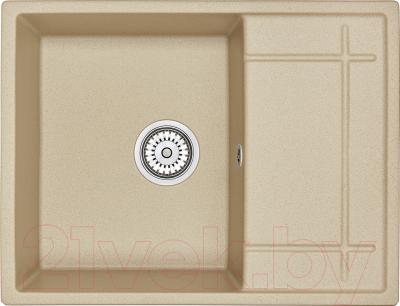 Мойка кухонная Granula GR-6501 + смеситель Spring 35-09/L (песок)