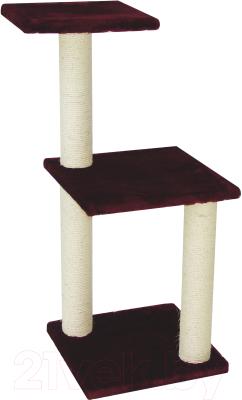 Комплекс для кошек UrbanCat K96-01-07 (бордовый)