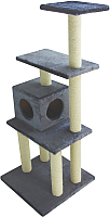Комплекс для кошек UrbanCat K148-02-02 (темно-серый) -