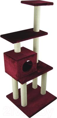 Комплекс для кошек UrbanCat K148-02-07 (бордовый)