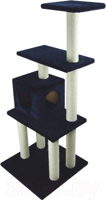 Комплекс для кошек UrbanCat K148-02-08 (темно-синий)