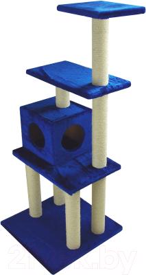 Комплекс для кошек UrbanCat K148-02-09 (синий)