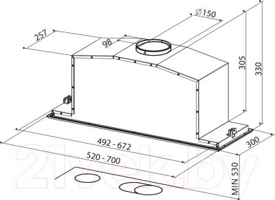 Вытяжка скрытая Faber Inca Lux Glass EG8 X/BK A52 (110.0356.519)