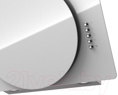 Вытяжка декоративная Krona Fina 600 PB / 00020618 (белый)