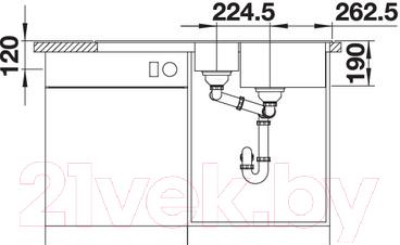 Мойка кухонная Blanco Legra 6 S / 522210