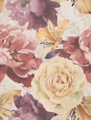 Декоративная плитка Golden Tile Гобелен цветы (250x330, бежевый)
