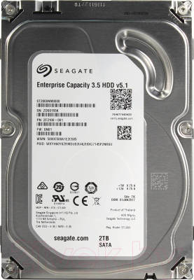 Жесткий диск Seagate Enterprise Capacity 3.5 v5.1 2TB (ST2000NM0008)
