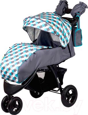Детская прогулочная коляска Babyhit Voyage Air (серый/голубой)
