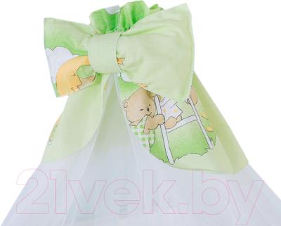 Балдахин на кроватку Баю-Бай Нежность Б10-Н3 (зеленый)