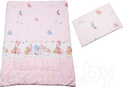 Комплект постельный детский Баю-Бай Забава К20-З1 (розовый)