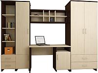 Комплект мебели для жилой комнаты Нарус Студент (шимо светлый) -
