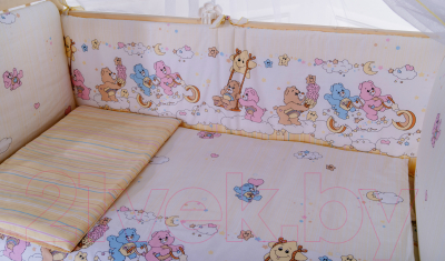 Комплект постельный в кроватку Баю-Бай Забава К30-З2 (бежевый)