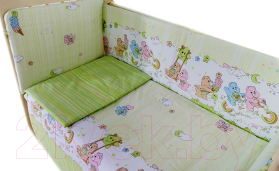Детское постельное белье Баю-Бай Забава К30-З3 (зеленый)