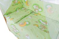 Комплект в кроватку Баю-Бай Нежность К31-Н3 (зеленый) -