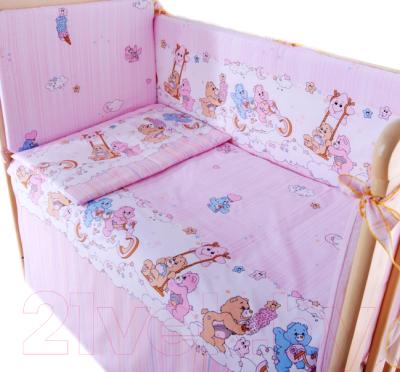 Комплект в кроватку Баю-Бай Забава К40-З1 (розовый)