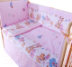 Комплект постельный в кроватку Баю-Бай Забава К40-З1 (розовый) -