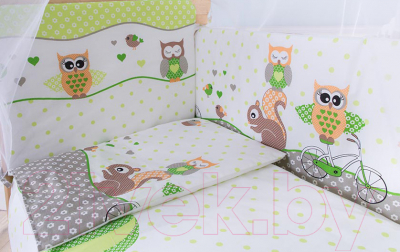 Комплект в кроватку Баю-Бай Раздолье К40-Р3 (зеленый)