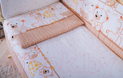Комплект в кроватку Баю-Бай Дружба К50-Д2 (бежевый)