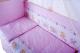 Комплект в кроватку Баю-Бай Мечта К60-М1 (розовый) -