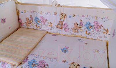 Комплект постельный в кроватку Баю-Бай Забава / К60-З2 (бежевый)