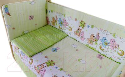 Комплект в кроватку Баю-Бай Забава К60-З3 (зеленый)