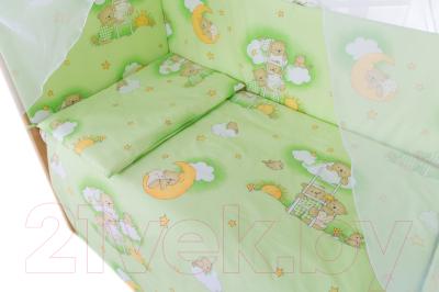 Комплект в кроватку Баю-Бай Нежность К60-Н3 (зеленый)
