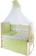 Комплект постельный в кроватку Баю-Бай Мечта К70-М3 (зеленый) -
