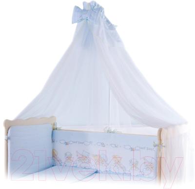 Комплект постельный в кроватку Баю-Бай Мечта / К70-М4 (голубой)