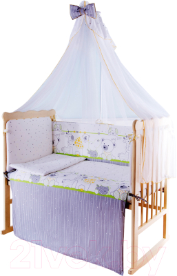 Комплект в кроватку Баю-Бай Дружба К70-Д3 (зеленый)