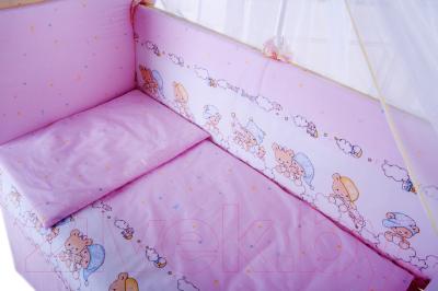 Комплект постельный в кроватку Баю-Бай Мечта К31-М1 (розовый)