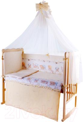 Комплект постельный в кроватку Баю-Бай Мечта / К80-М2 (бежевый)