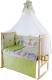 Комплект в кроватку Баю-Бай Забава К80-З3 (зеленый) -