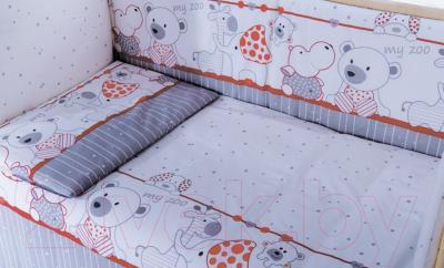 Комплект в кроватку Баю-Бай Дружба К80-Д1 (красный)