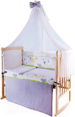 Комплект в кроватку Баю-Бай Дружба К80-Д3 (зеленый)
