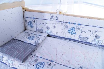 Комплект в кроватку Баю-Бай Дружба К80-Д4 (синий)