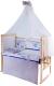 Комплект постельный в кроватку Баю-Бай Дружба К80-Д4 (синий) -