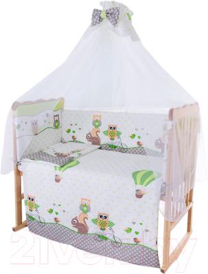 Комплект в кроватку Баю-Бай Раздолье К80-Р3 (зеленый)