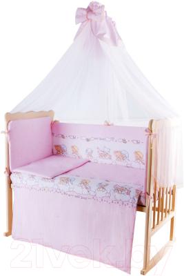 Комплект в кроватку Баю-Бай Мечта К90-М1 (розовый)