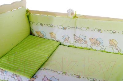 Комплект в кроватку Баю-Бай Мечта К90-М3 (зеленый)